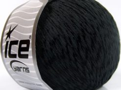 Lot of 4 x 100gr Skeins Ice Yarns SUMMER (70% Mercerized Cotton 30% Viscose) Yarn Black