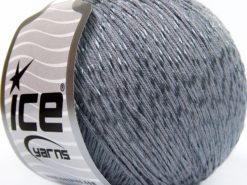 Lot of 4 x 100gr Skeins Ice Yarns SUMMER (70% Mercerized Cotton 30% Viscose) Yarn Grey
