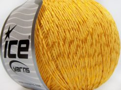 Lot of 4 x 100gr Skeins Ice Yarns SUMMER (70% Mercerized Cotton 30% Viscose) Yarn Gold