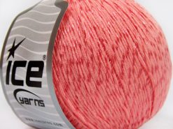 Lot of 4 x 100gr Skeins Ice Yarns SUMMER (70% Mercerized Cotton 30% Viscose) Yarn Light Salmon