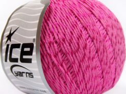 Lot of 4 x 100gr Skeins Ice Yarns SUMMER (70% Mercerized Cotton 30% Viscose) Yarn Candy Pink