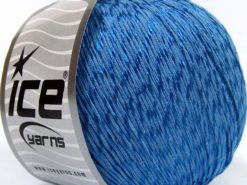 Lot of 4 x 100gr Skeins Ice Yarns SUMMER (70% Mercerized Cotton 30% Viscose) Yarn Blue
