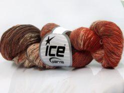 Lot of 4 x 100gr Skeins Ice Yarns HAND DYED SOCK YARN (75% SuperWash Wool) Yarn Brown Shades Cream Copper