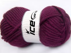 Lot of 2 x 200gr Skeins Ice Yarns ATLAS JUMBO Hand Knitting Yarn Burgundy