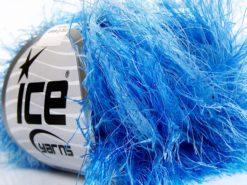 Lot of 8 Skeins Ice Yarns LONG EYELASH COLORFUL Hand Knitting Yarn Blue Shades