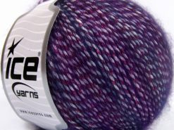 Lot of 8 Skeins Ice Yarns MIRELLA (15% Mohair) Hand Knitting Yarn Purple Shades
