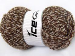 Lot of 4 x 100gr Skeins Ice Yarns Bulky ATLAS Hand Knitting Yarn Brown Shades