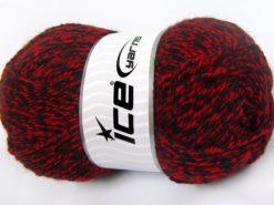 Lot of 4 x 100gr Skeins Ice Yarns Bulky ATLAS Hand Knitting Yarn Black Red