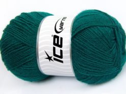 Lot of 4 x 100gr Skeins Ice Yarns MERINO GOLD (60% Merino Wool) Yarn Emerald Green