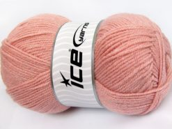 Lot of 4 x 100gr Skeins Ice Yarns STAR GLITZ Hand Knitting Yarn Salmon