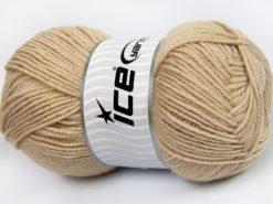 Lot of 4 x 100gr Skeins Ice Yarns MERINO GOLD LIGHT (60% Merino Wool) Yarn Beige
