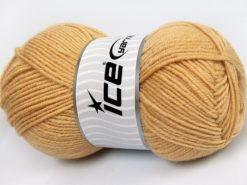 Lot of 4 x 100gr Skeins Ice Yarns MERINO GOLD LIGHT (60% Merino Wool) Yarn Light Camel