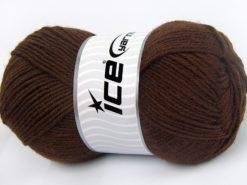 Lot of 4 x 100gr Skeins Ice Yarns MERINO GOLD LIGHT (60% Merino Wool) Yarn Dark Brown