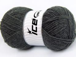Lot of 4 x 100gr Skeins Ice Yarns MERINO GOLD LIGHT (60% Merino Wool) Yarn Dark Grey