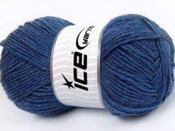 Lot of 4 x 100gr Skeins Ice Yarns MERINO GOLD LIGHT (60% Merino Wool) Yarn Blue