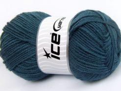 Lot of 4 x 100gr Skeins Ice Yarns MERINO GOLD LIGHT (60% Merino Wool) Yarn Indigo Blue