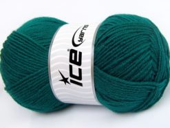 Lot of 4 x 100gr Skeins Ice Yarns MERINO GOLD LIGHT (60% Merino Wool) Yarn Emerald Green