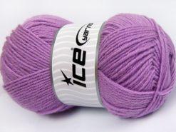 Lot of 4 x 100gr Skeins Ice Yarns MERINO GOLD LIGHT (60% Merino Wool) Yarn Light Lilac