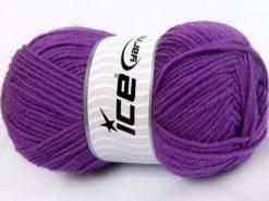 Lot of 4 x 100gr Skeins Ice Yarns MERINO GOLD LIGHT (60% Merino Wool) Yarn Lilac