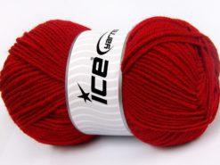 Lot of 4 x 100gr Skeins Ice Yarns MERINO GOLD LIGHT (60% Merino Wool) Yarn Red