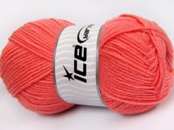 Lot of 4 x 100gr Skeins Ice Yarns MERINO GOLD LIGHT (60% Merino Wool) Yarn Salmon
