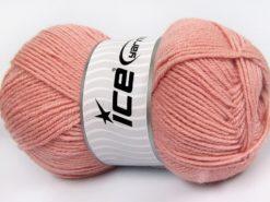 Lot of 4 x 100gr Skeins Ice Yarns MERINO GOLD LIGHT (60% Merino Wool) Yarn Powder Pink