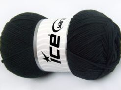 Lot of 4 x 100gr Skeins Ice Yarns LORENA (50% Cotton) Hand Knitting Yarn Black