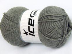 Lot of 4 x 100gr Skeins Ice Yarns LORENA (50% Cotton) Yarn Light Grey