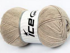 Lot of 4 x 100gr Skeins Ice Yarns LORENA (50% Cotton) Hand Knitting Yarn Beige