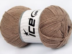 Lot of 4 x 100gr Skeins Ice Yarns LORENA (50% Cotton) Hand Knitting Yarn Mink
