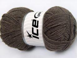 Lot of 4 x 100gr Skeins Ice Yarns LORENA (50% Cotton) Yarn Dark Camel