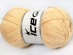 Lot of 4 x 100gr Skeins Ice Yarns LORENA (50% Cotton) Yarn Dark Cream