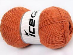 Lot of 4 x 100gr Skeins Ice Yarns LORENA (50% Cotton) Yarn Dark Gold