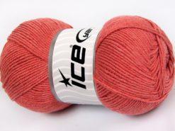 Lot of 4 x 100gr Skeins Ice Yarns LORENA (50% Cotton) Hand Knitting Yarn Salmon