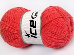 Lot of 4 x 100gr Skeins Ice Yarns LORENA (50% Cotton) Yarn Light Salmon
