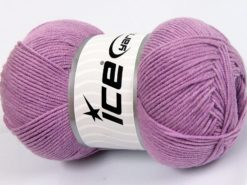 Lot of 4 x 100gr Skeins Ice Yarns LORENA (50% Cotton) Hand Knitting Yarn Lilac