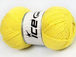 Lot of 4 x 100gr Skeins Ice Yarns LORENA (50% Cotton) Hand Knitting Yarn Yellow