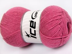Lot of 4 x 100gr Skeins Ice Yarns LORENA (50% Cotton) Yarn Candy Pink
