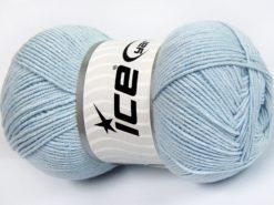 Lot of 4 x 100gr Skeins Ice Yarns LORENA (50% Cotton) Yarn Baby Blue