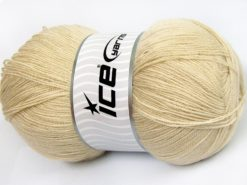 Lot of 4 x 100gr Skeins Ice Yarns KRISTAL Hand Knitting Yarn Beige