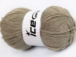 Lot of 4 x 100gr Skeins Ice Yarns KRISTAL Hand Knitting Yarn Light Camel