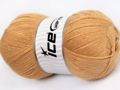 Lot of 4 x 100gr Skeins Ice Yarns KRISTAL Hand Knitting Yarn Milky Brown