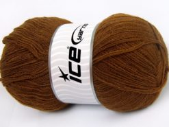 Lot of 4 x 100gr Skeins Ice Yarns KRISTAL Hand Knitting Yarn Brown