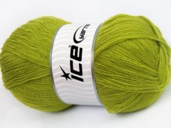 Lot of 4 x 100gr Skeins Ice Yarns KRISTAL Hand Knitting Yarn Light Green