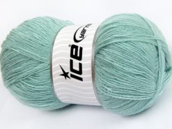 Lot of 4 x 100gr Skeins Ice Yarns KRISTAL Hand Knitting Yarn Water Green