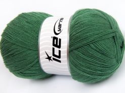 Lot of 4 x 100gr Skeins Ice Yarns KRISTAL Hand Knitting Yarn Dark Mint Green