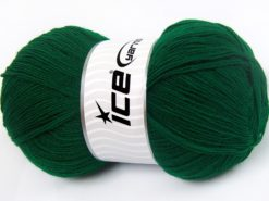 Lot of 4 x 100gr Skeins Ice Yarns KRISTAL Yarn Dark Emerald Green