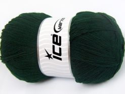 Lot of 4 x 100gr Skeins Ice Yarns KRISTAL Hand Knitting Yarn Dark Green
