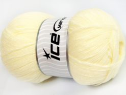 Lot of 4 x 100gr Skeins Ice Yarns KRISTAL Hand Knitting Yarn Light Yellow