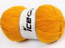 Lot of 4 x 100gr Skeins Ice Yarns KRISTAL Hand Knitting Yarn Gold